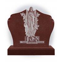 Памятник из красного гранита К-10 Дева Мария