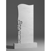 Резной памятник из белого мрамора № 90