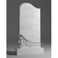 Резной памятник из белого мрамора № 10
