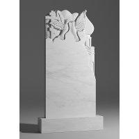 Резной памятник из белого мрамора № 100