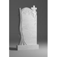Резной памятник из белого мрамора № 11