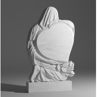 Резной памятник из белого мрамора № 101