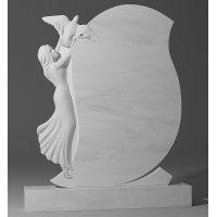 Резной памятник из белого мрамора № 103