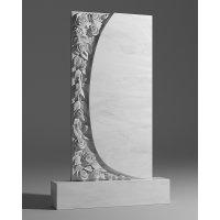 Резной памятник из белого мрамора № 104
