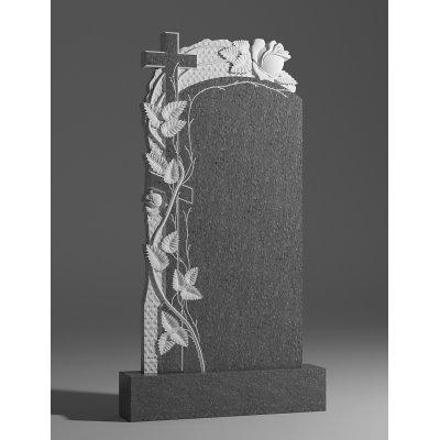 Резной памятник из серого гранита № 105