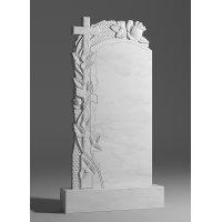 Резной памятник из белого мрамора № 105