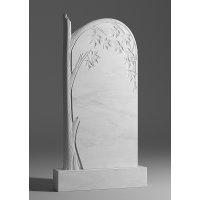 Резной памятник из белого мрамора № 107