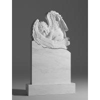 Резной памятник из белого мрамора № 108