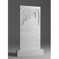 Резной памятник из белого мрамора № 109