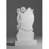Резной памятник из белого мрамора № 110