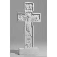 Резной памятник из белого мрамора № 111