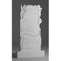 Резной памятник из белого мрамора № 112