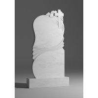 Резной памятник из белого мрамора № 115