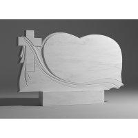 Резной памятник из белого мрамора № 117
