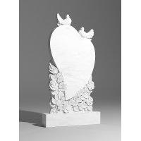 Резной памятник из белого мрамора № 118