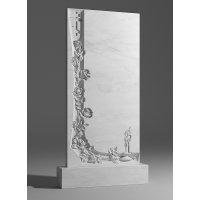 Резной памятник из белого мрамора № 13