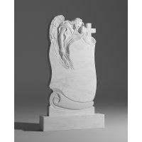 Резной памятник из белого мрамора № 119