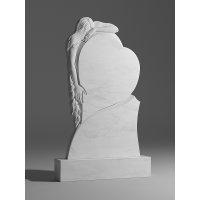Резной памятник из белого мрамора № 120