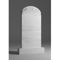 Резной памятник из белого мрамора № 121