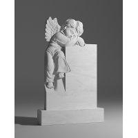 Резной памятник из белого мрамора № 123