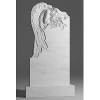 Резной памятник из белого мрамора № 124