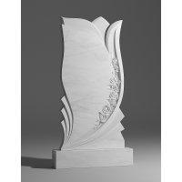 Резной памятник из белого мрамора № 14