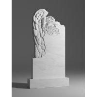Резной памятник из белого мрамора № 127