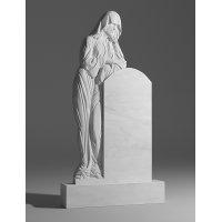 Резной памятник из белого мрамора № 15