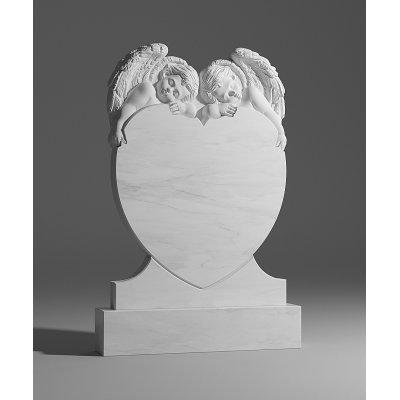 Резной памятник из белого мрамора № 141