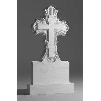 Резной памятник из белого мрамора № 16
