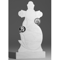 Резной памятник из белого мрамора № 165