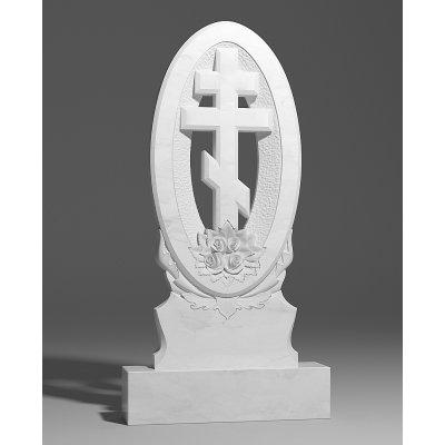 Резной памятник из белого мрамора № 166