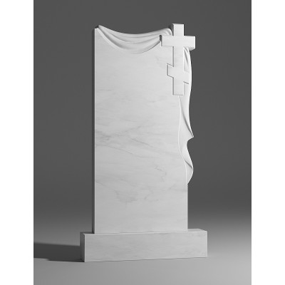 Резной памятник из белого мрамора № 167