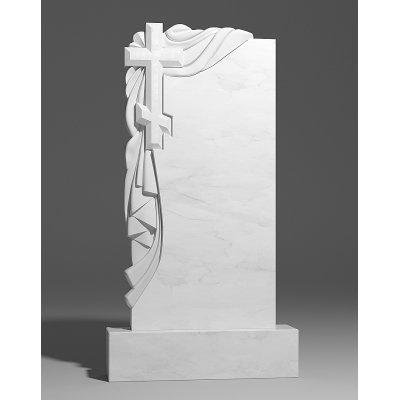 Резной памятник из белого мрамора № 168