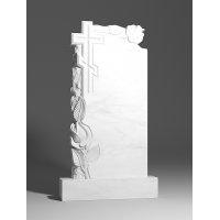 Резной памятник из белого мрамора № 169