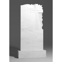 Резной памятник из белого мрамора № 170