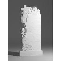 Резной памятник из белого мрамора № 171