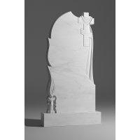 Резной памятник из белого мрамора № 172