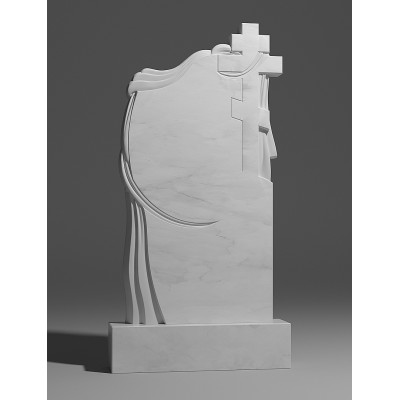 Резной памятник из белого мрамора № 173