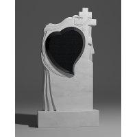 Резной памятник из белого мрамора № 173-1