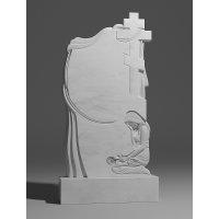 Резной памятник из белого мрамора № 174