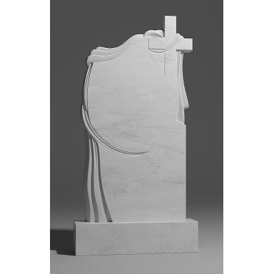 Резной памятник из белого мрамора № 175