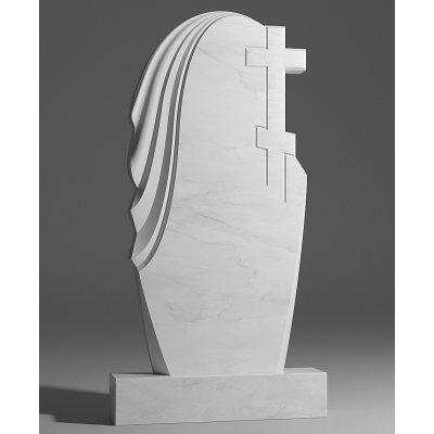 Резной памятник из белого мрамора № 177