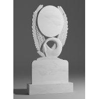 Резной памятник из белого мрамора № 185