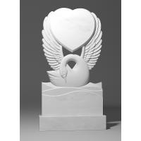 Резной памятник из белого мрамора № 188