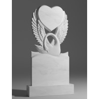 Резной памятник из белого мрамора № 192