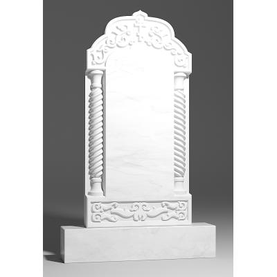 Резной памятник из белого мрамора № 196