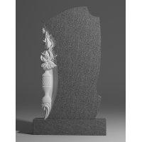 Резной памятник из серого гранита № 197