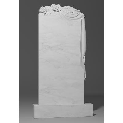 Резной памятник из белого мрамора № 198