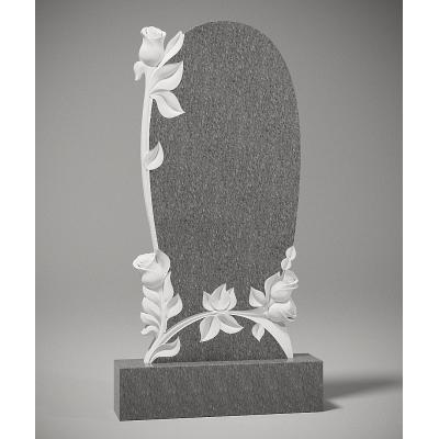Резной памятник из серого гранита № 203